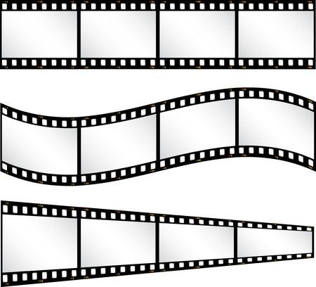 filmstrips: Various filmstrip backgrounds Illustration