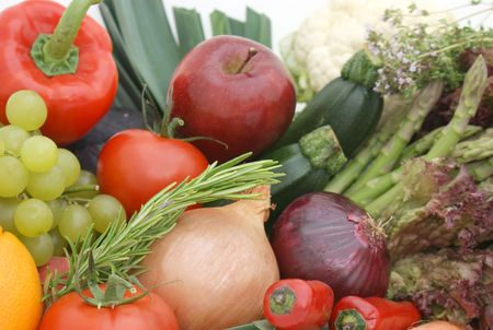 Display of fruit and vegetables Stock Photo - 3238231
