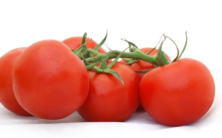 Ripe tomatoes on the vine Stock Photo - 3238222