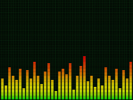 equaliser: Graphic equaliser background