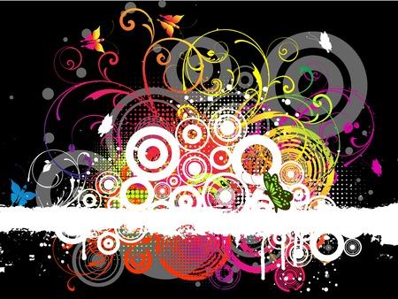 emo: Abstract grunge Stock Illustratie