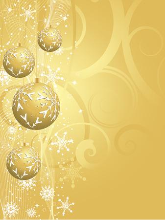 gold christmas background: Decorative gold Christmas background