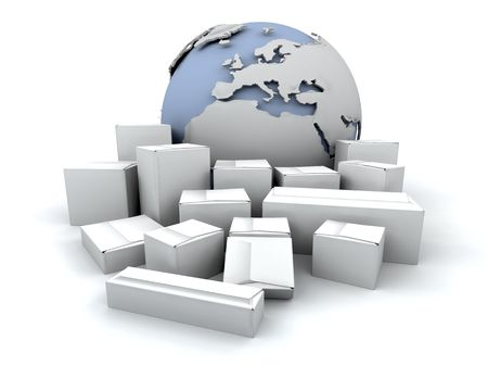 depicting: Image depicting global delivery