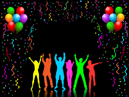 People dancing on party background Stock Vector - 3589975