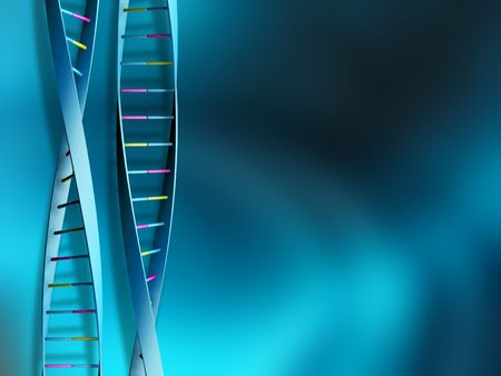 dna test: DNA strands on abstract background Stock Photo