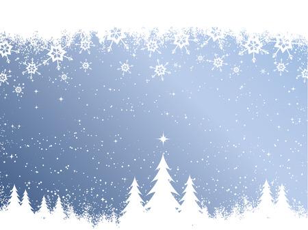 frieren: Weihnachtsb�ume auf schneebedeckten Hintergrund