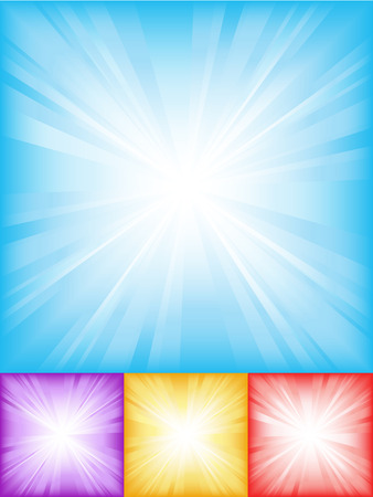 Colourful starburst backgrounds