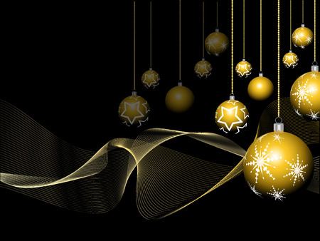 Golden Christmas bauble background Vector