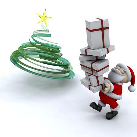 Santa with gifts photo