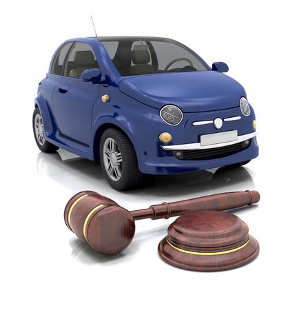 auction gavel: Hammer and gavel in front of a car