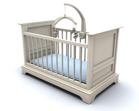 bebe cuna: 3D render de una cuna para un beb�