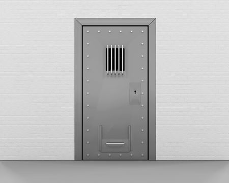 prison cell: 3D render d'une porte de prison