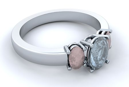 anillo de compromiso: Plata anillo de compromiso
