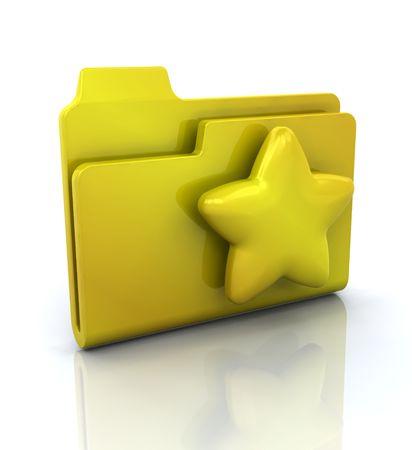 favourites: 3D icon for favourites folder