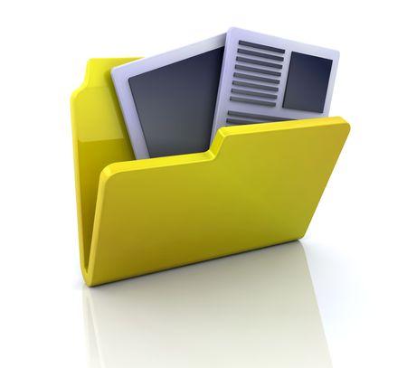 3D icono de mis documentos Foto de archivo - 4125491