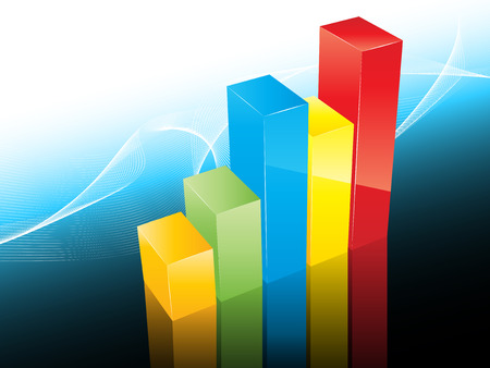 profitable: 3D styled bar graph