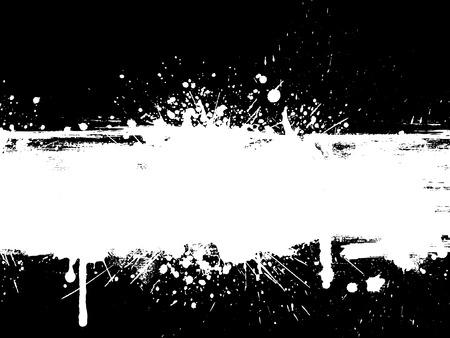 Grunge splatter with drips Illustration
