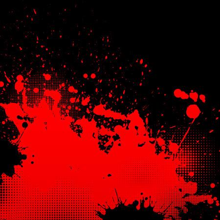 blutspritzer: Grunge Splatter Hintergrund Illustration