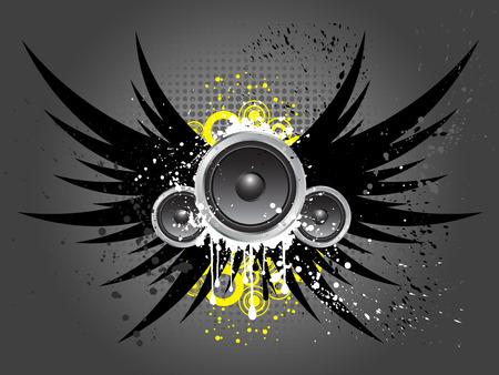 speakers: Grunge style music background