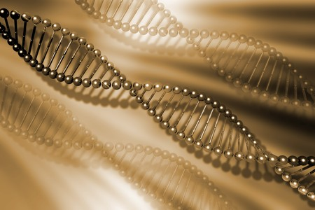 DNA strands on abstract background Stock Photo - 4557728