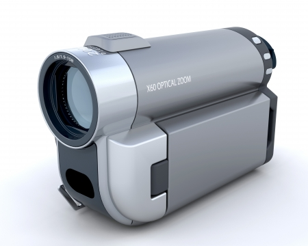 handycam: 3D Handycam isolated over a white background