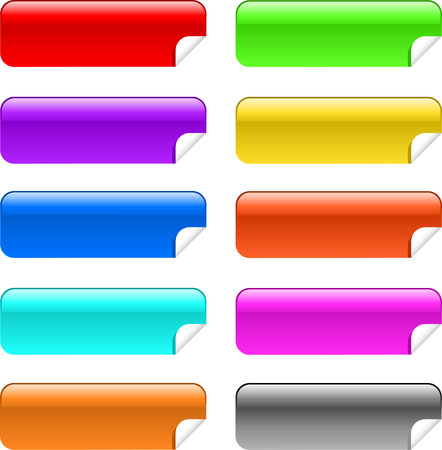 stickies: Glossy stickies in different colours
