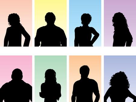 avatar woman: Avatar silhouettes