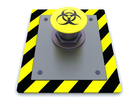 3d render of push button with symbol Stock Photo - 4604828