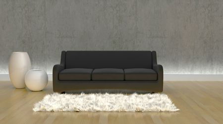 3d render of contemporary sofa in moderen setting Stock Photo - 4644032