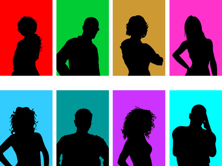 youngsters: Avatar silhouettes