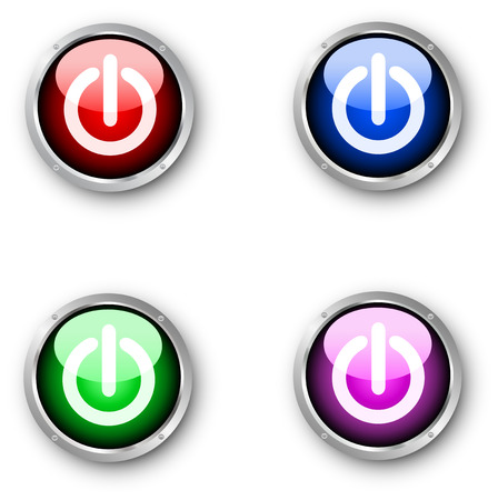 Glossy power buttons