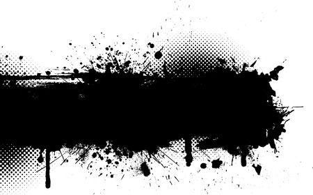 ink splat: S�mbolo de la tinta de fondo grunge
