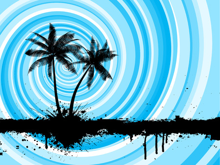 Grunge style palm trees background Stock Vector - 4818702