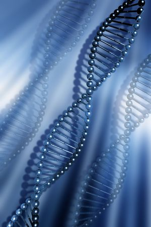 strand: DNA strands on abstract background Stock Photo