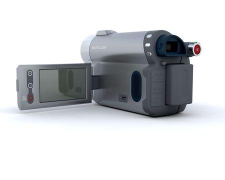 3D Render of a digital video camera photo