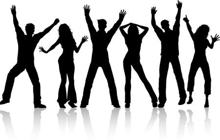 ragazze che ballano: Sagome di persone ballano