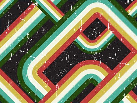 Grunge retro style striped background Vector