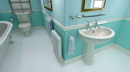 3d render of contemporary bathroom interior