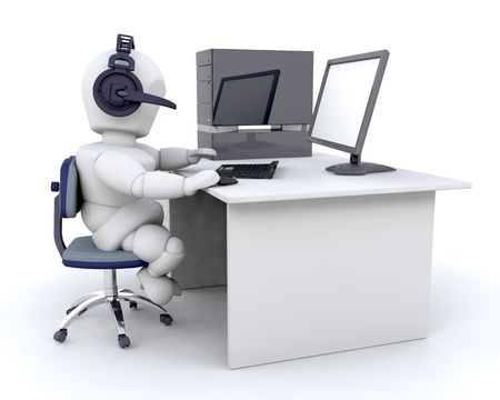 3D render of a man chatting over the web Stock Photo - 4979406
