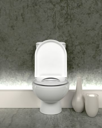 3d render of contemporary toilet photo