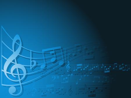notes musicales: R�sum� des notes de fond avec de la musique