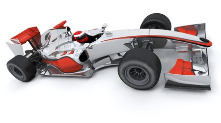 formule: 3d render of a formula racing car