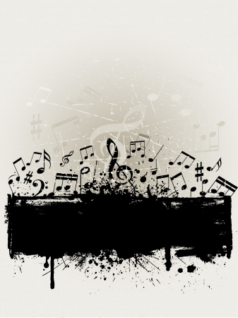 splatters: Grunge music background