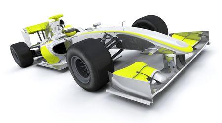 formula 1: 3d render of a formula racing car