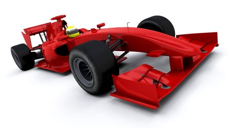 formula one: 3d render of a formula one racing car