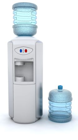 cooler: 3D render of an office water cooler Stock Photo