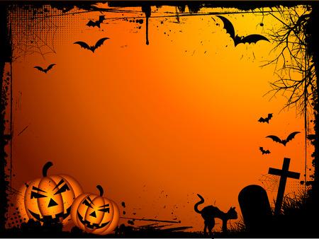 Grunge Halloween background Vector