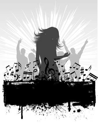 adolescent: Grunge style party background Illustration