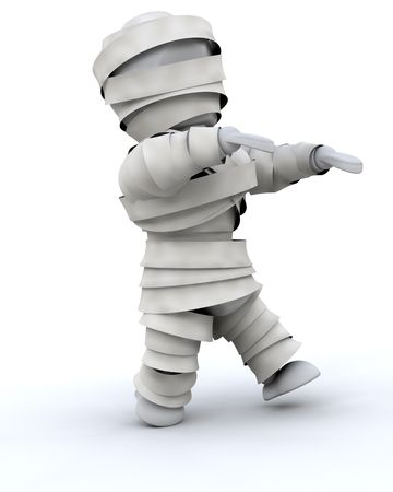 3d render of a man in halloween mummy costume Stock Photo - 5508471