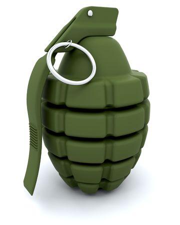 frag: 3D render of a traditional hand grenade